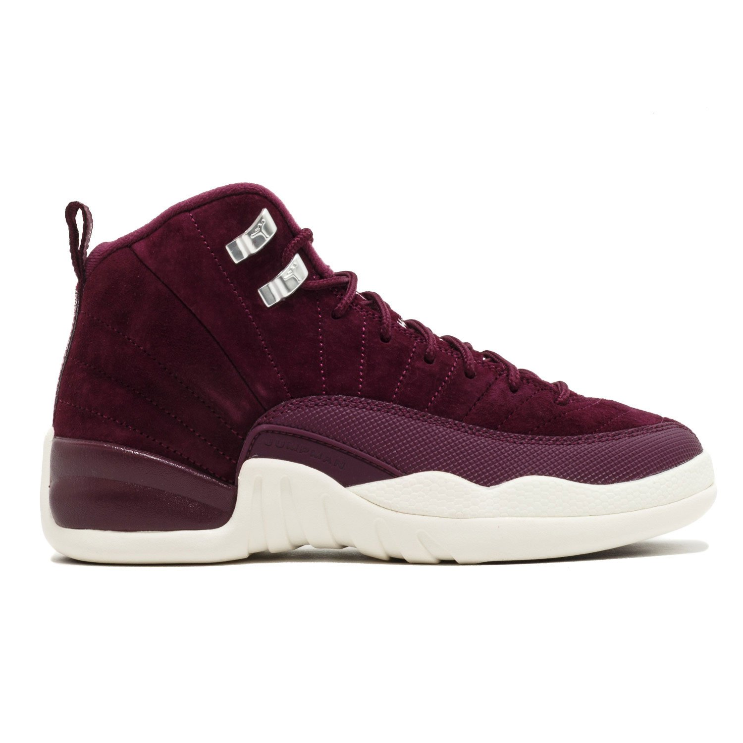 dbfd4acdee6fe1 Nike Air Jordan 12 Retro Bordeaux G.S Youth Big Kids Bordeaux Metallic  Silver Sail 153265-617 (6.5)