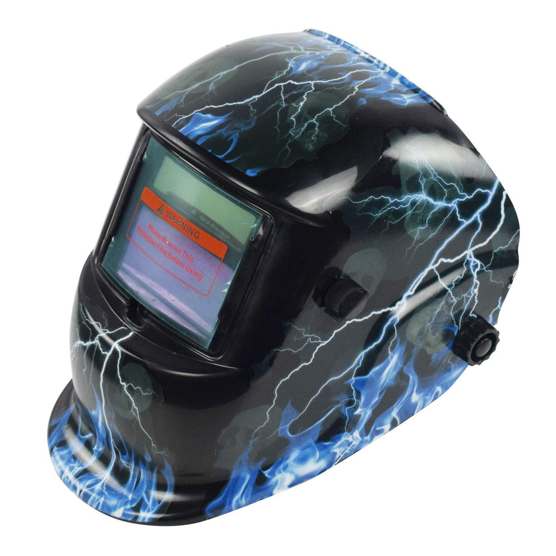Lightning Skull Pro Solar Auto-Darkening Welding Helmet Grind Welder Mask Hood