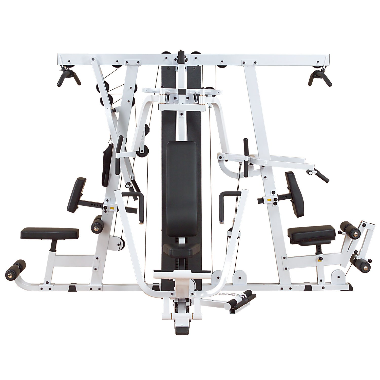 amazon com body solid exm4000s triple stack home gym exercise