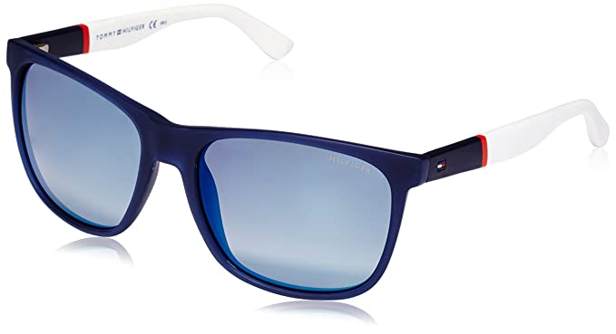 8ec10c399eda Amazon.com: Tommy Hilfiger Men's Th1281s Square Sunglasses, Blue, 56 ...