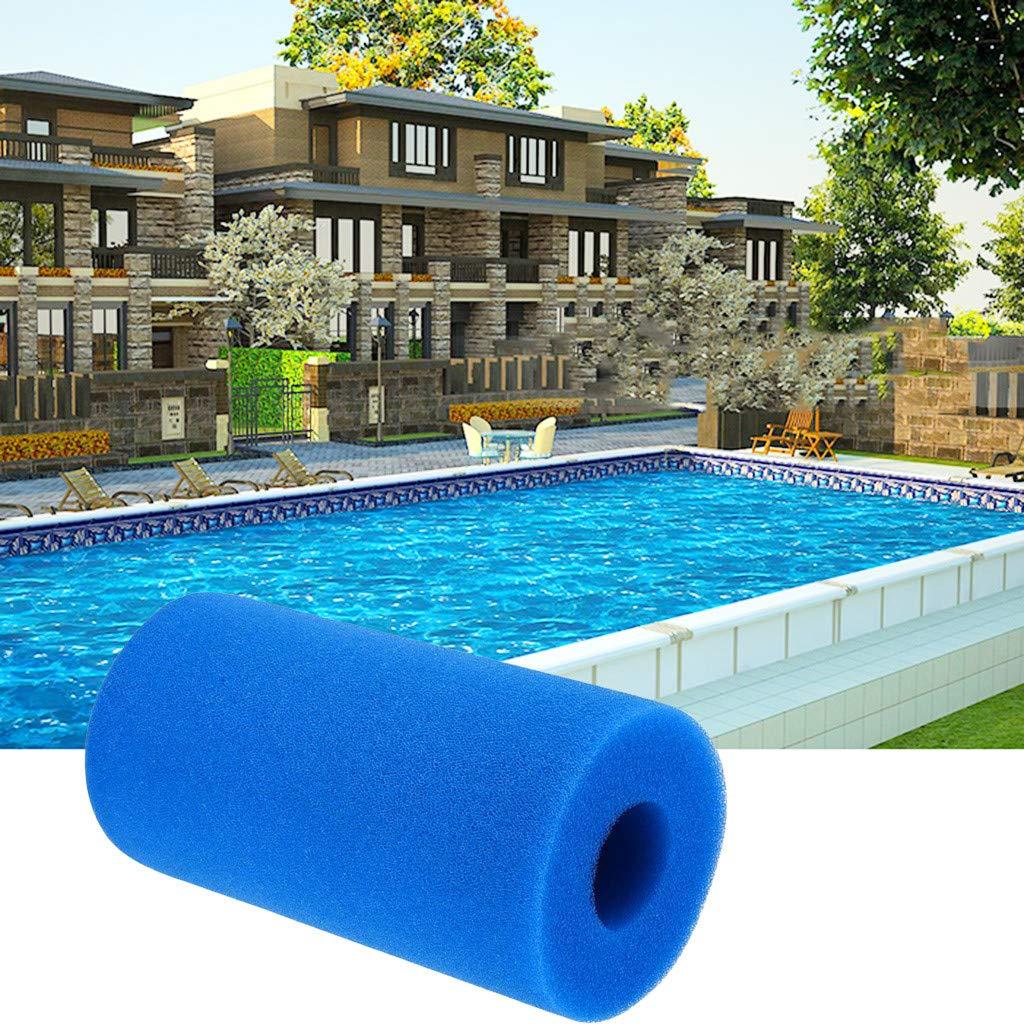 7.9 inch Intex Sponge Filter Pool Cleaner Tool For Intex Type A//H//S1 KAKAT Swimming Pool Filter Blue-10PCS Reusable//Washable Swimming Pool Filter Cartridges