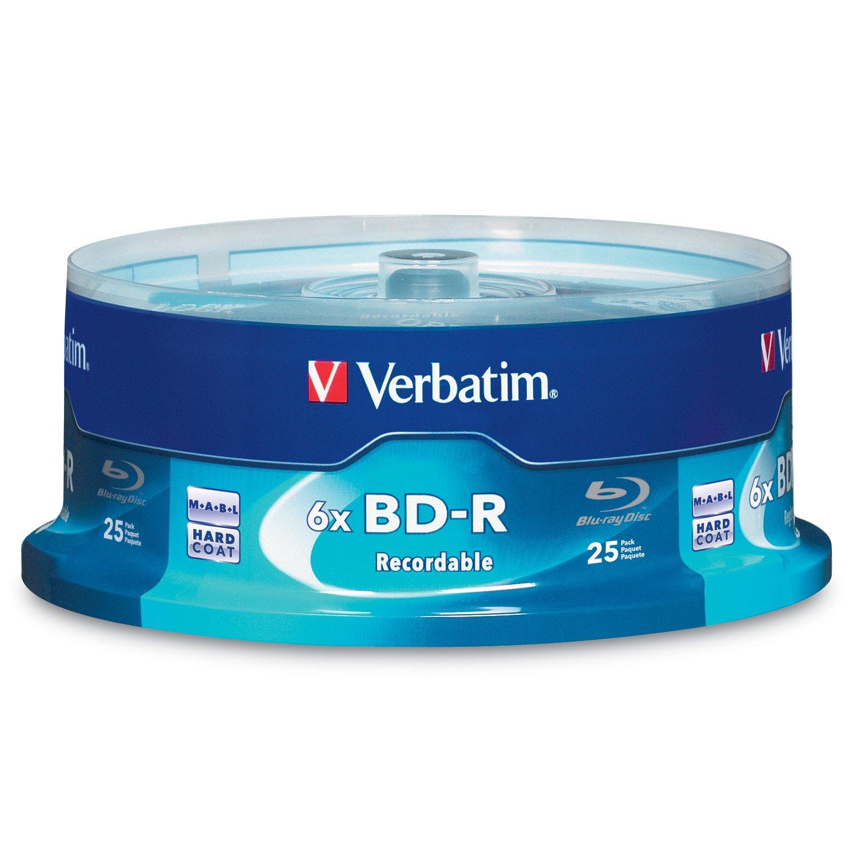 Verbatim dvd rw 4 7gb 4x with branded surface 30pk spindle 4 7gb - Verbatim Bd R 25gb 6x With Branded Surface 25pk Spindle 97457