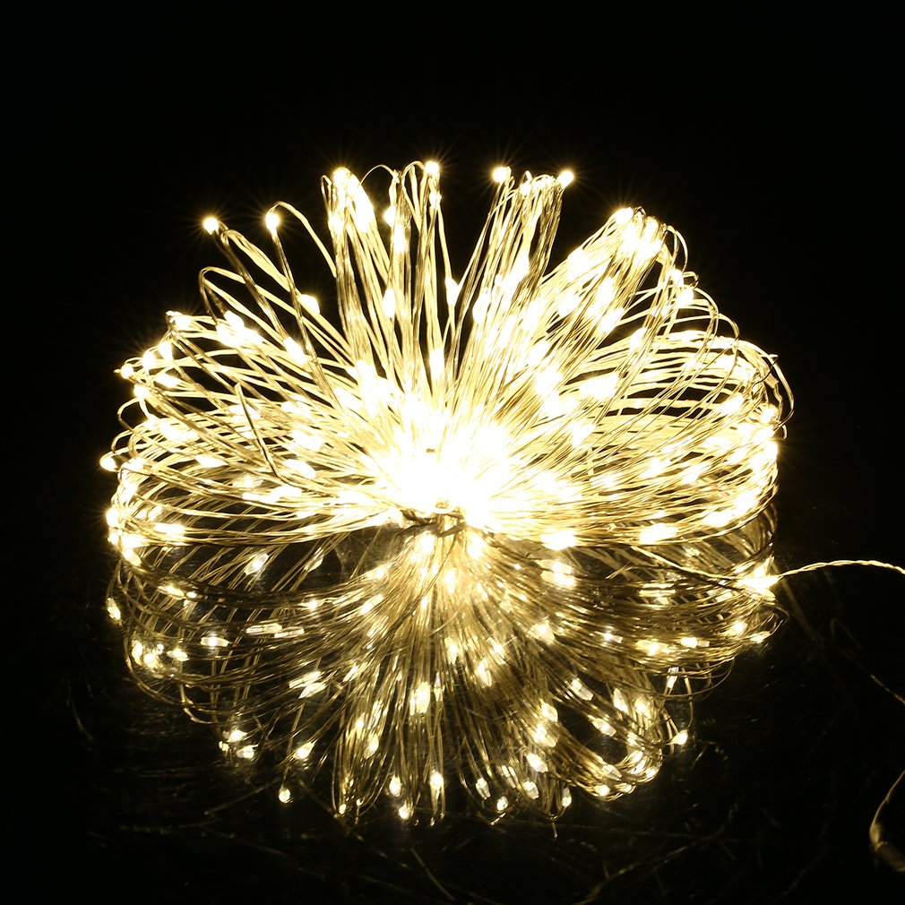 YTCYJK 5M 50 LED Silver Wire Christmas Wedding Party String Fairy Light Lamp 12V Warm Light YTCYKJ