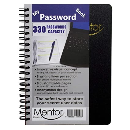 17,8 x 12,7 cm Quick Search Design Password and Private Code Journal My Password Book
