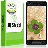 Google Pixel 2 Screen Protector (Case-Friendly)Clear HD Anti-Bubble [Easy to install] [2-Pack] IQ Shield LiQuidSkin Full Coverage Screen Protector for Google Pixel 2