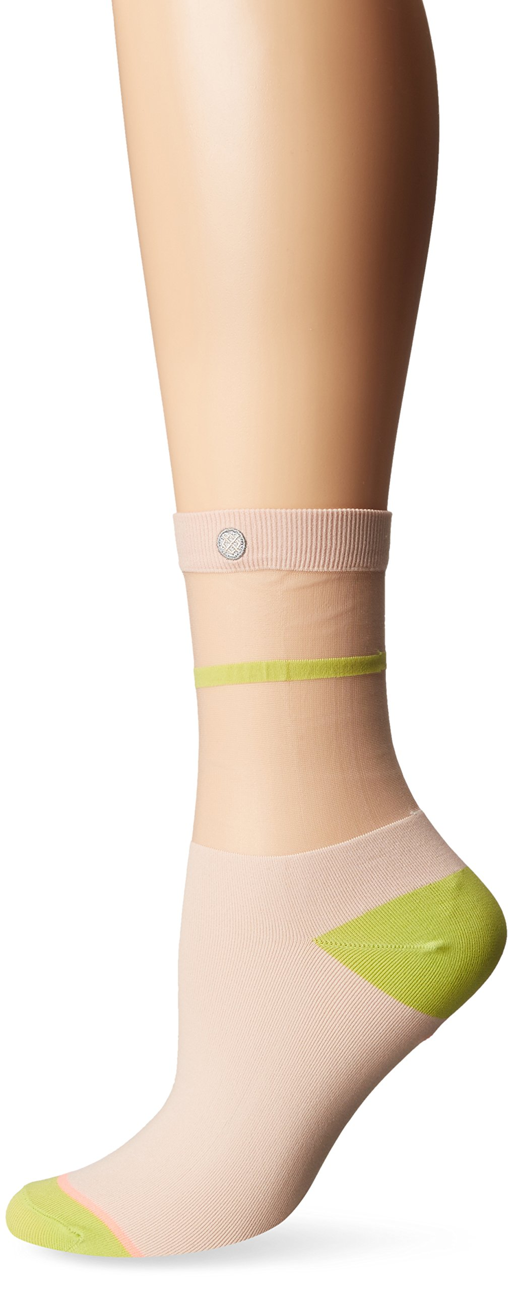 Stance Women's Foxy Sheer Anklet Sock, Blue, Medium