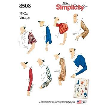 Simplicity Muster 8506 A (10–12–14–16–18–20–22) Misses \'Vintage Set ...