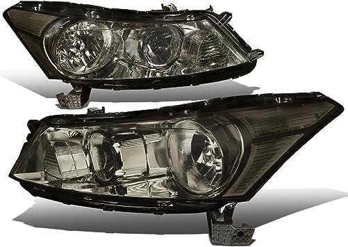 Amazon Com Replacement For Honda Accord 8th Gen Sedan Pair Of Oe Style Smoke Lens Clear Corner Headlight Automotive