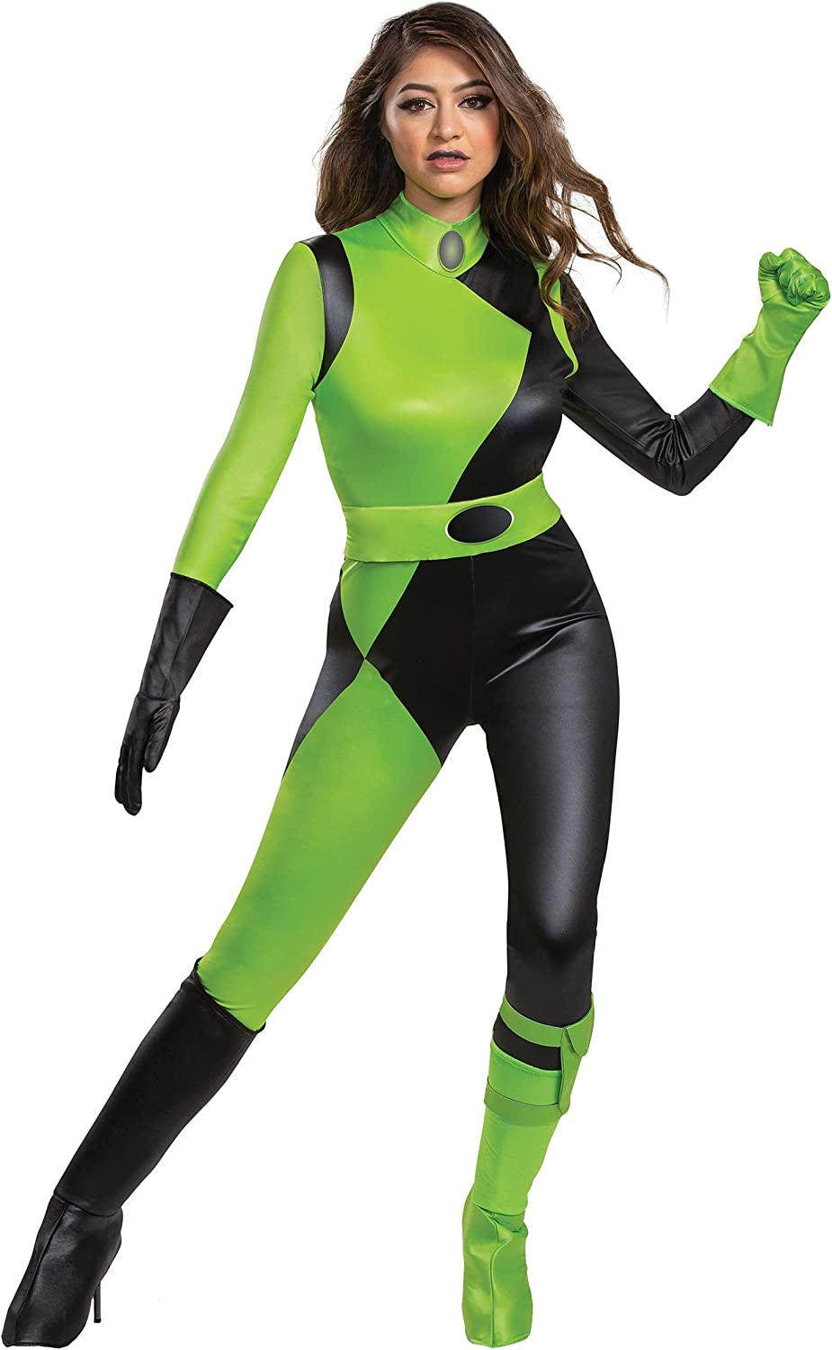 Disguise Kim Possible Animated Series Womens Shego Fancy Dress ...
