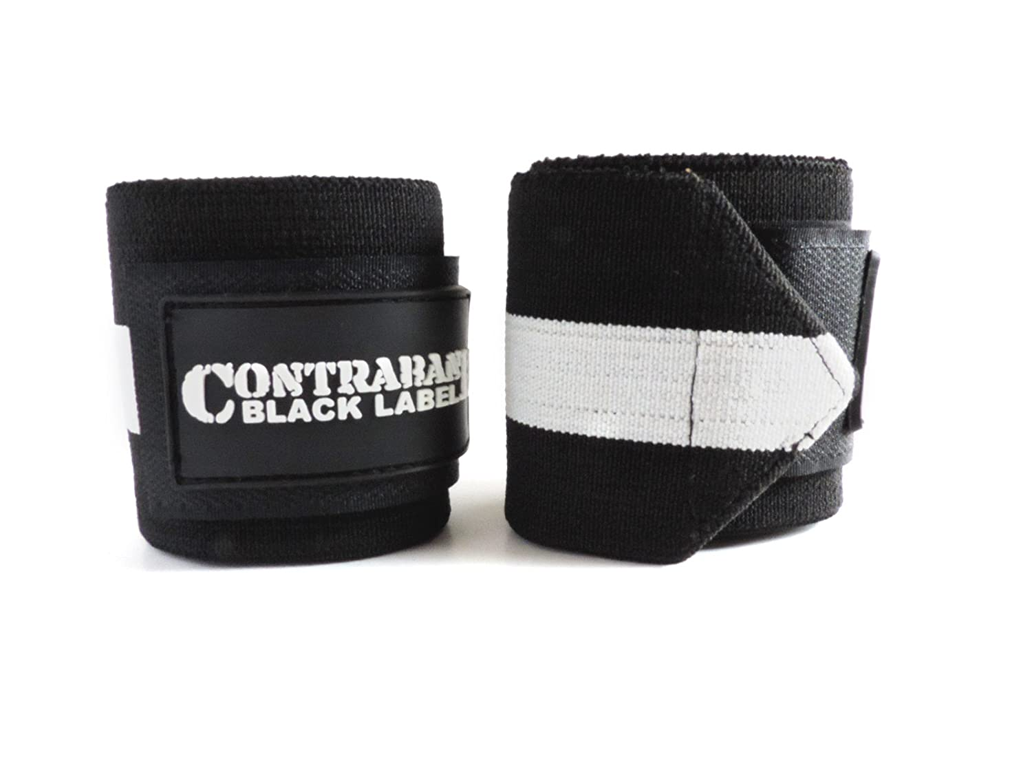 Bodybuilding - Competition Grade Wrist Support USPA Approved for Powerlifting Contraband Black Label 1001 Weight Lifting Wrist Wraps w//Thump Loops Strongman Pair