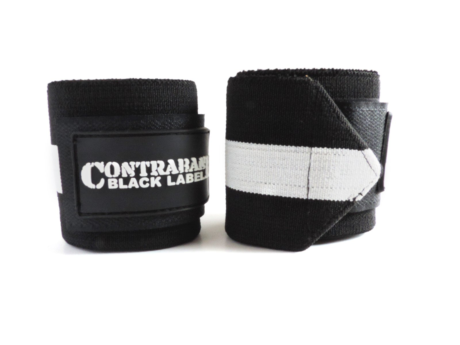 Contraband Black Label 1001 Weight Lifting Wrist Wraps w/Thumb Loops (Pair) - Competition Grade Wrist Support USPA Approved for Powerlifting, Bodybuilding, Strongman (18in, Extreme (White))