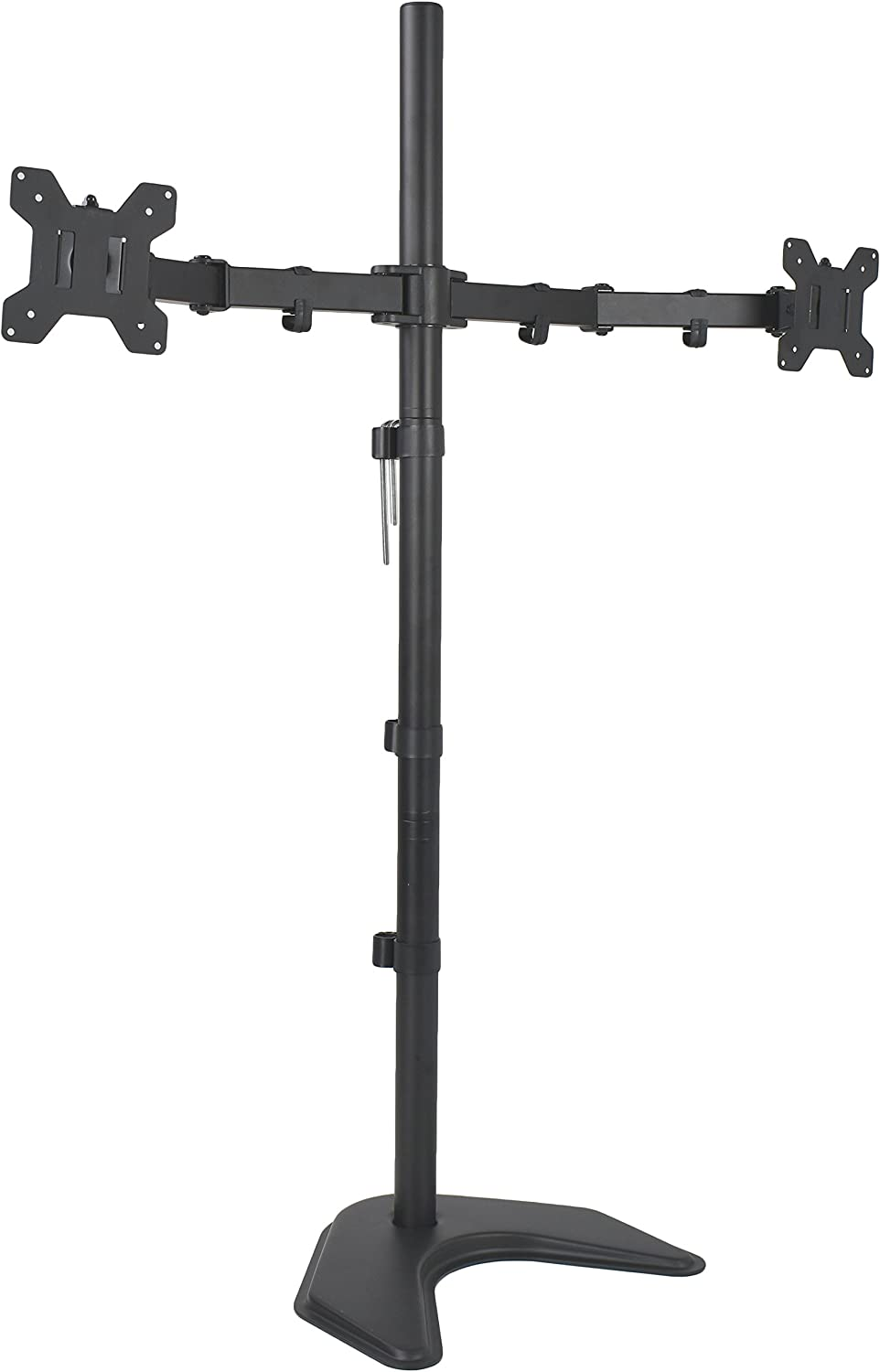 VIVO Dual Monitor Free-Standing Stand up Desk Mount, Extra Tall 40 inch Pole, Height Adjustable | Fits up to 27 inch Screens (STAND-V012F)