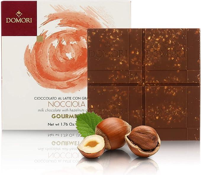 Domori 12 x Tableta Chocolate con leche granulada de avellana, 50 gramos – Gourmet: Amazon.es: Hogar