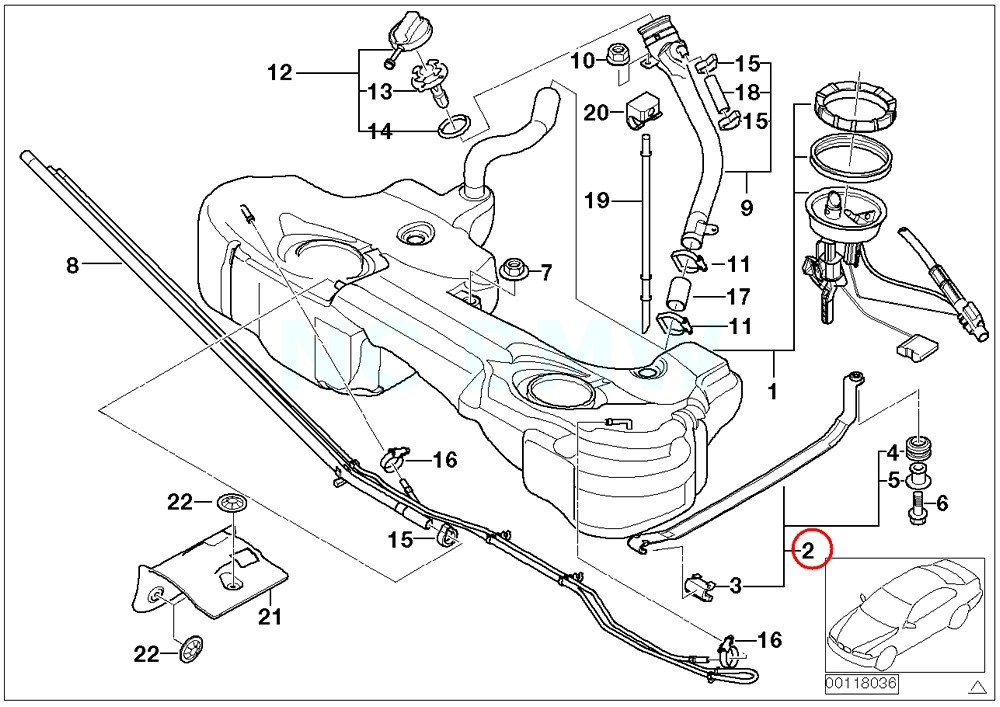 Amazon Com Bmw Genuine Tension Strap Automotive