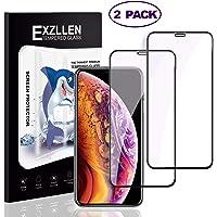 EXZLLEN Verre trempé iPhone XS Max Protecteur d'écran,2-Pack 0.23mm Ultra Clair Couverture complète Film Protection Ecran,sans Bulles Anti-Chocs anti-rayures Anti-lumière Bleue Protecteur Vitre
