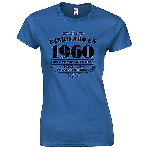 Bang Tidy Clothing Camiseta de Mujer para Regalo DE 60 cumpleaños Manufactured 1960