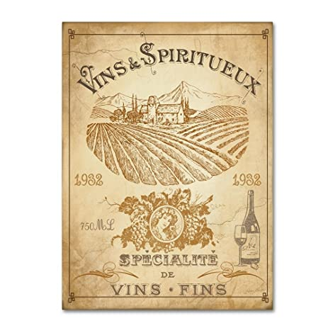 Amazon.com: Vintage French Wine Label by Jean Plout, 35x47-Inch ...