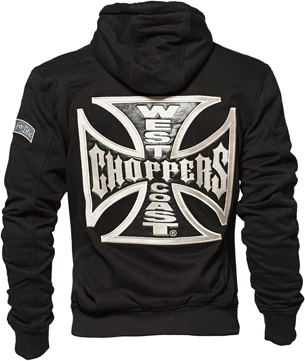 West Coast Choppers Zip Hoody Cross Panel