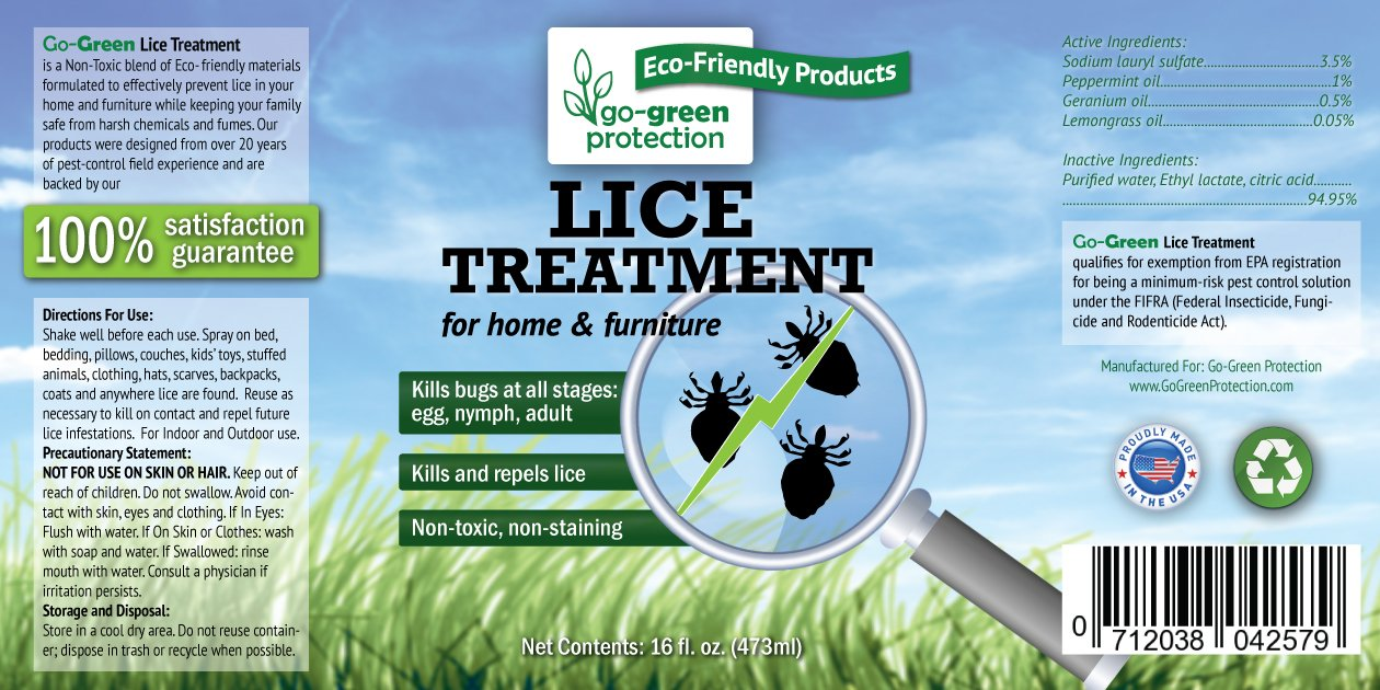 amazon com natural lice treatment for home by go green use on