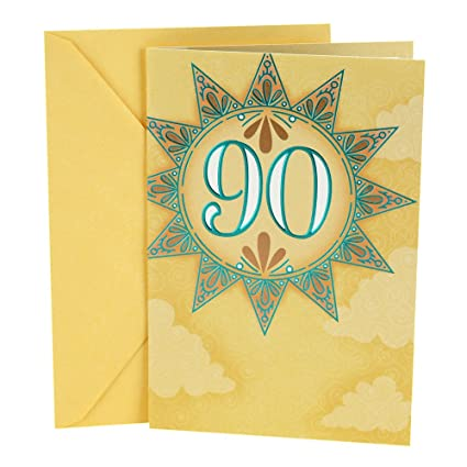 Amazon Hallmark 90th Birthday Card Sun Office Products