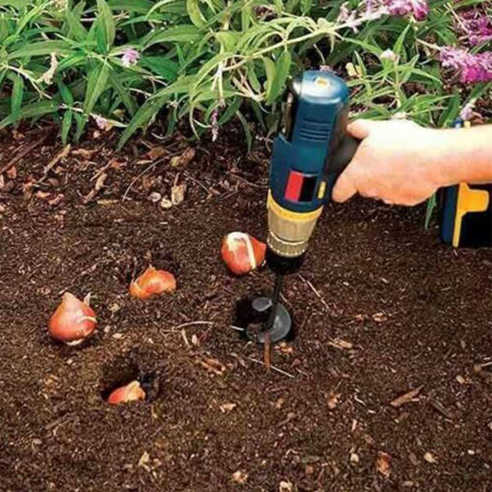 Main Perceuse Excavateur Foreuse Jardinage Lit Plantation Excavateur Trou Outil pour Plantation Lit Ampoules Semis #2 Foreuse Perceuse Embout Jardin Sol Cultivateur