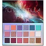 Bubble Nebula 18 Colors Eyeshadow Makeup Palette, High Pigmented Shimmer Matte Glitter Multi Reflective Creamy Blendable…