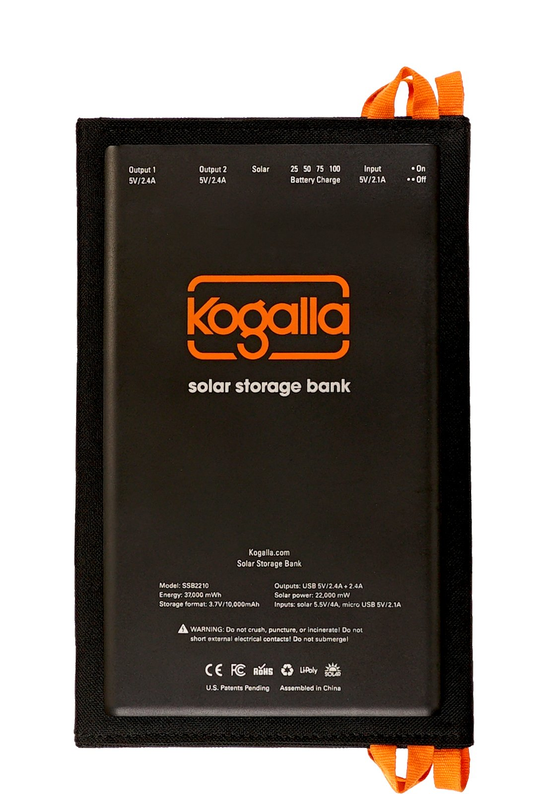 Kogalla SSB2210 Solar Storage Bank - First High-Power, Foldable Solar Array with Integrated Ultra-Slim, Rechargeable Power Pack by Kogalla