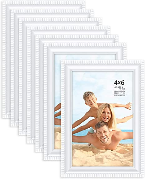 Langdon House 4x6 10x15 Cm Picture Frames White 12 Pack Contemporary Frame Set Wall Mount Or Table Top Prosperity Collection Amazon Ca Home Kitchen