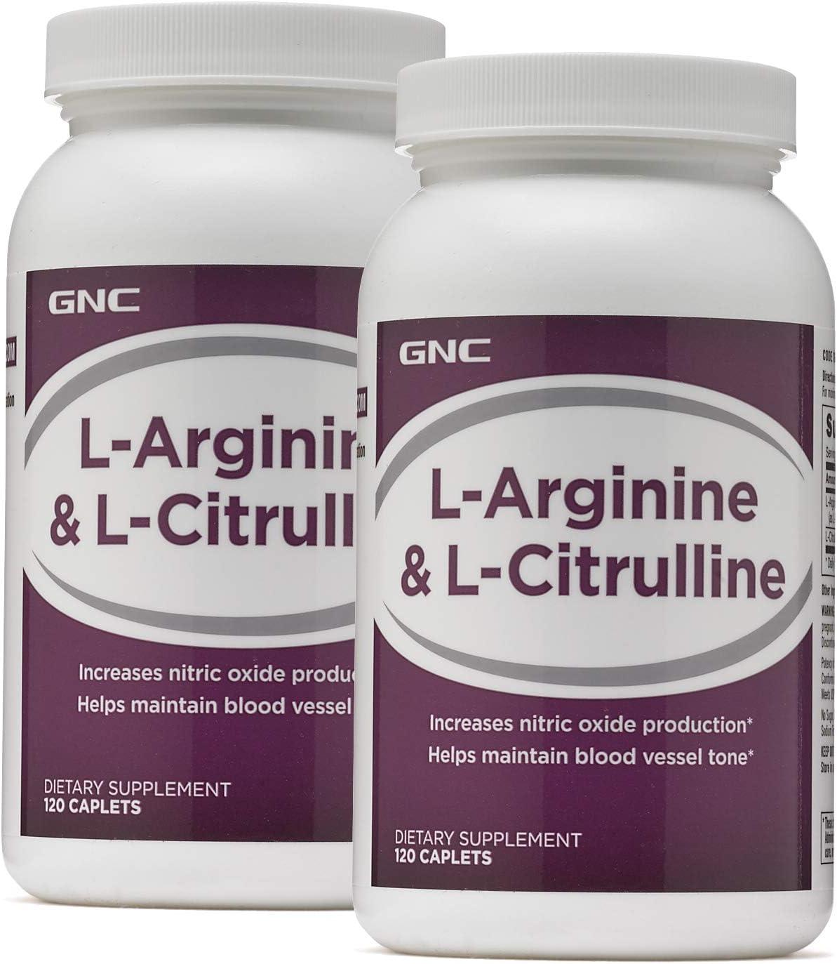 GNC L-Arginine L-Citrulline – Twin Pack