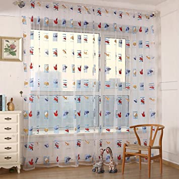 Amazon.de: 2 Stück Auto Druck Vorhang Garn für Schlafzimmer