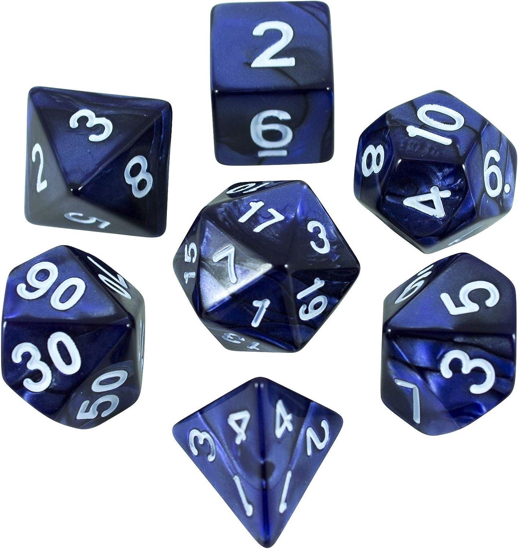 Paladin Roleplay - Juego de dados de rol (poliedro), color azul: Amazon.es: Juguetes y juegos