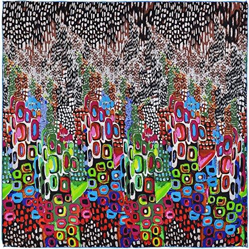 Carré de soie SilkArt Abstraction multicolore