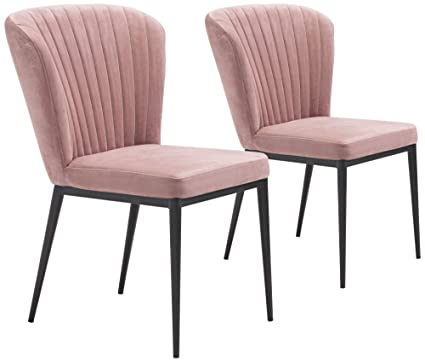 Image Unavailable  sc 1 st  Amazon.com & Amazon.com - Zuo 101101 Dining Chair One Size Pink Velvet - Chairs