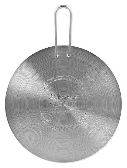 INOXPRAN - Placa de inducción de Acero Inoxidable, Gris, 21 x 21 x 0,5 cm
