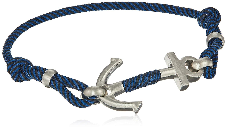 a6e4a1672b1c48 Amazon.com: Fossil Men's Blue Nylon Anchor Bracelet, One Size: Jewelry