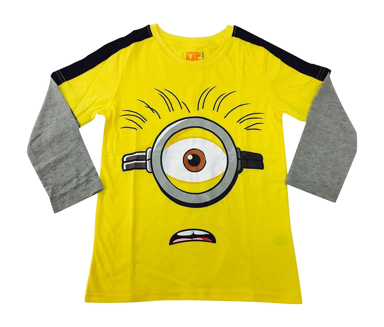 Amazon.com: Minions Despicable Me Long Sleeve T-shirt Yellow Boys ...