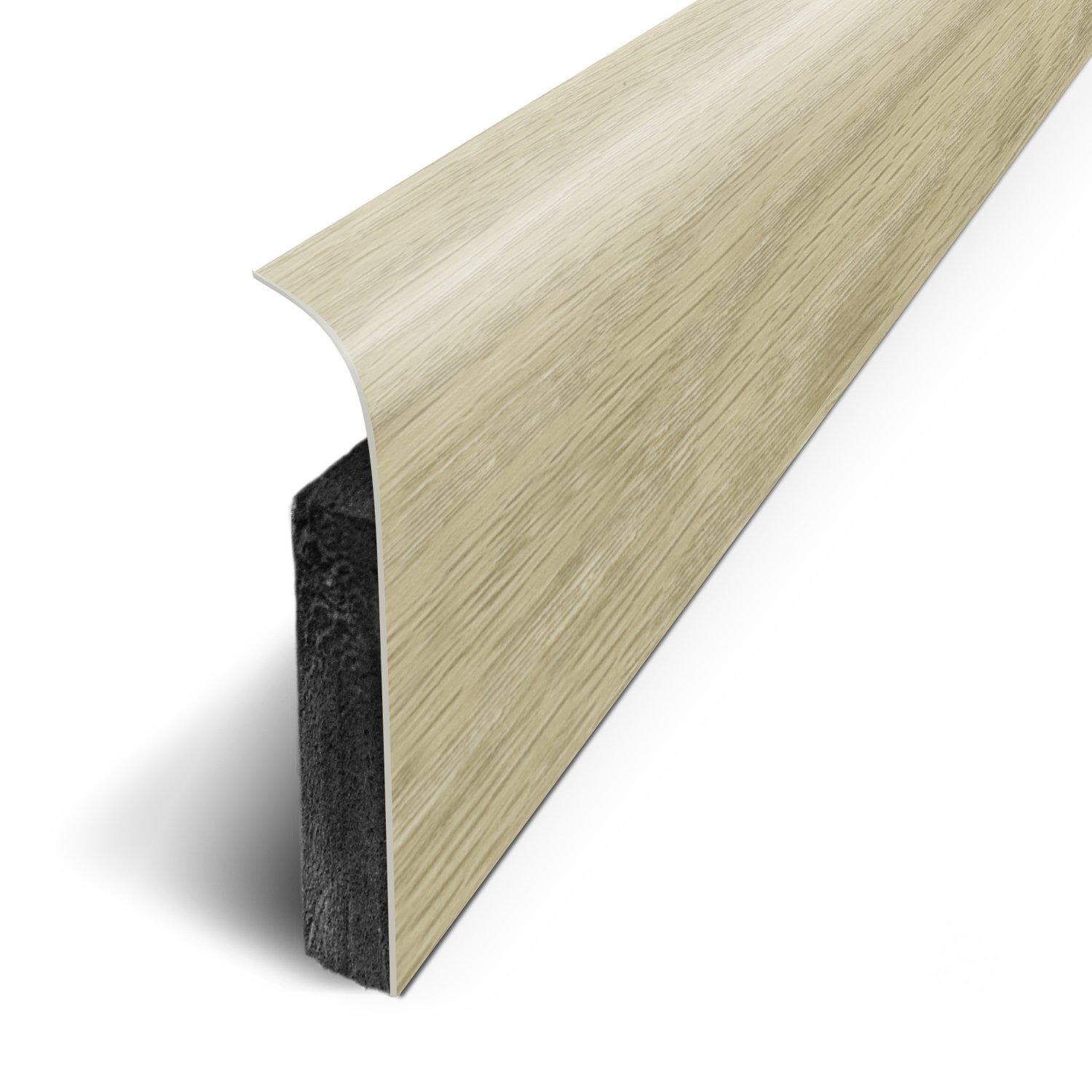 3M Long.120 cm x Haut.7 cm x Ep - Ch/êne Terail 1.1cm Plinthes Adh/ésives Ref: D180513D lot de 5