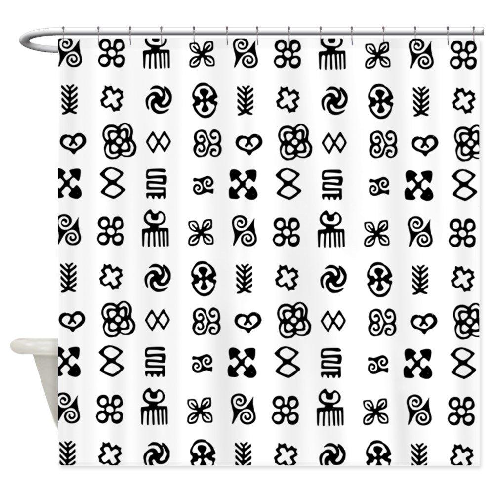 Amazon Cafepress West Africa Adinkra Symbols Shower Curtain