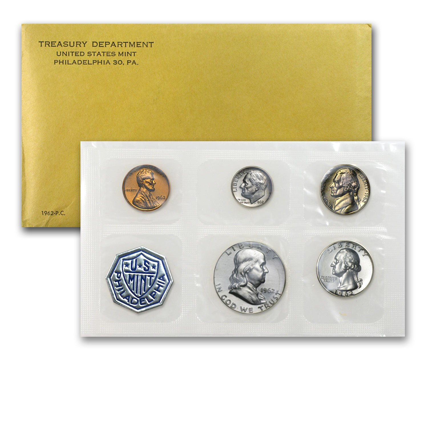 1963 U.S The Coins are U.S PROOF SET Mint Sealed in a flat cello.
