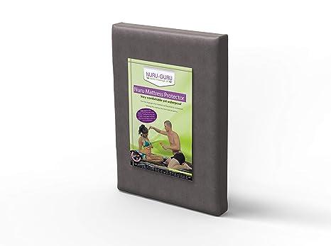 Nuru Hojas Nuru colchón Impermeable (Full) (Gris)