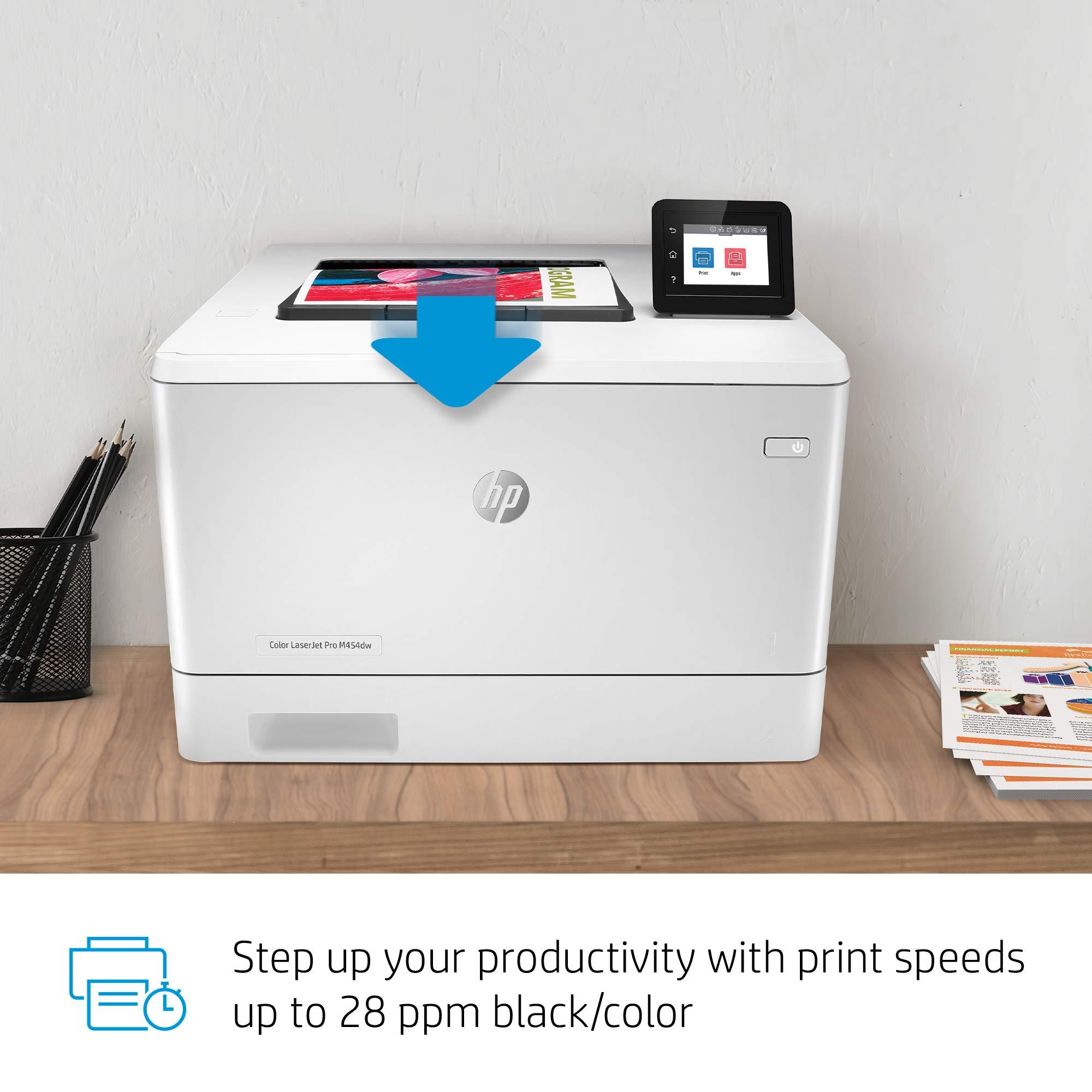 HP Color LaserJet Pro M454dw Printer (W1Y45A) by HP (Image #8)