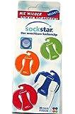 Pinces à chaussettes Sockstar Basic Line – format familial = kit de 20 pièces en 4 couleurs