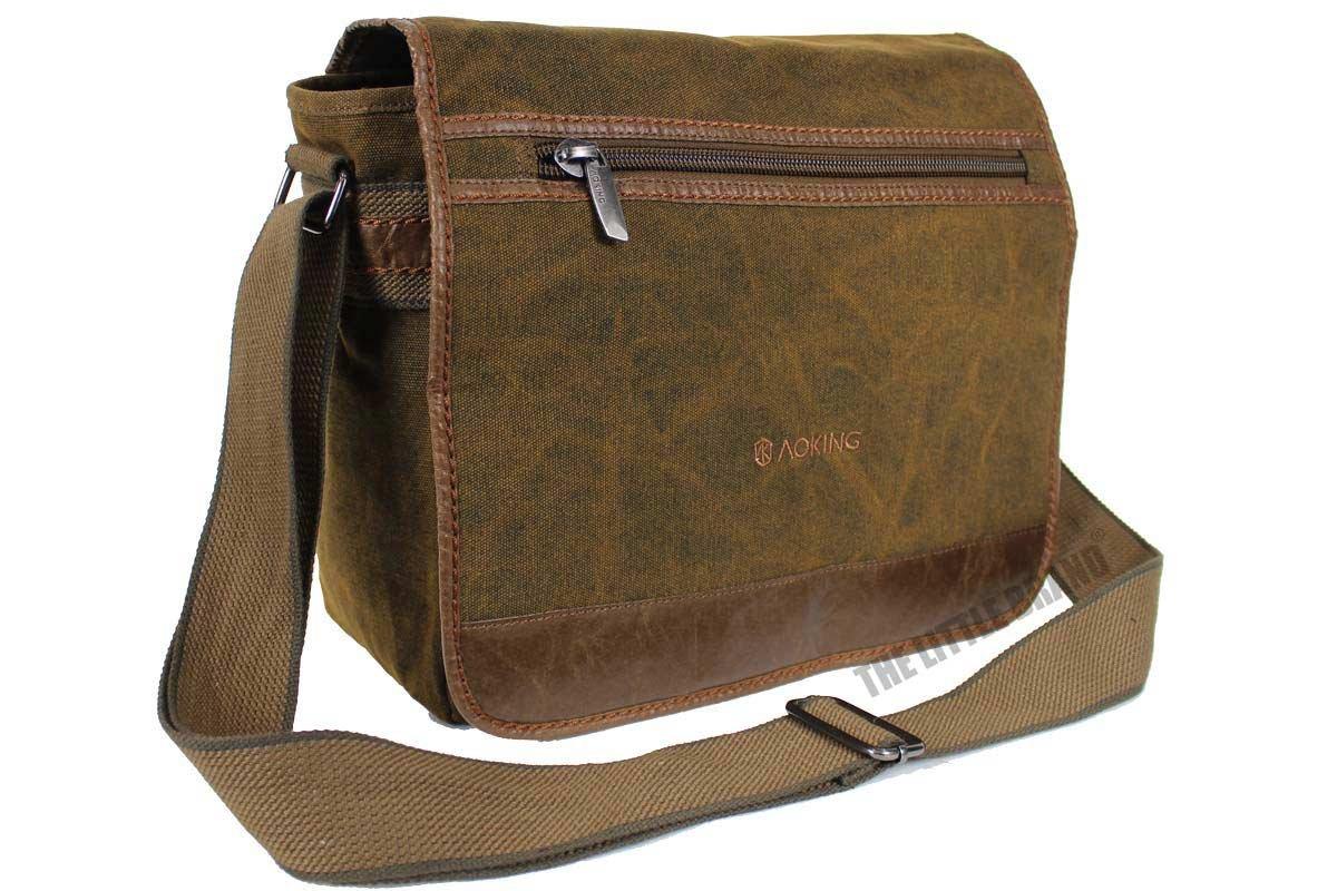 5cea37f479 Mens Canvas Casual Side Bag Shoulder Bag Messenger Bag Satchel Bag AR5043   (Brown ) Rocklands London