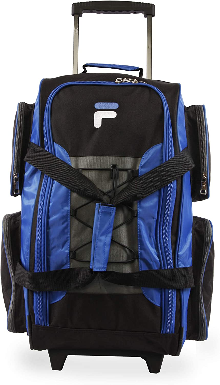 "Fila 22"" Lightweight Carry On Rolling Duffel Bag, Blue, One Size"
