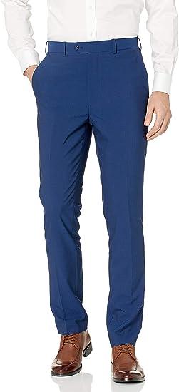 Adolfo Micro Tech Slim Fit Flat Front Suit Pant Pantalones Para Vestir Para Hombre Amazon Com Mx Ropa Zapatos Y Accesorios