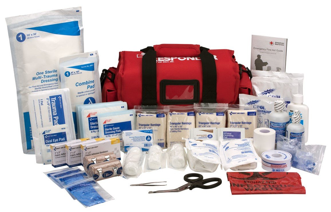 Amazon first aid only first responder kit large red bag 158 amazon first aid only first responder kit large red bag 158 pieces industrial scientific publicscrutiny Image collections
