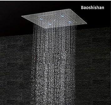 LED techo alcachofa de ducha grifo de la ducha acero ...