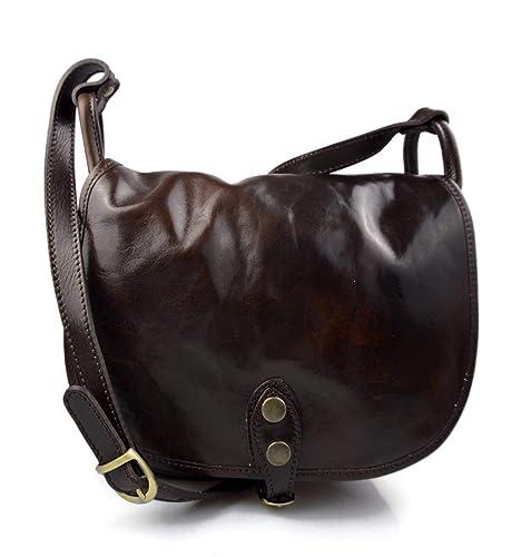 e38dd420e498f Damen leder tasche gürteltasche hüfttasche umhängetasche schultertasche  tragetasche ledertasche damen leder made in Italy dunkel braun