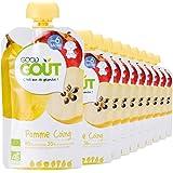 Good Goût - BIO - Purée de Fruits Pomme Coing - 10 gourdes de 120 g