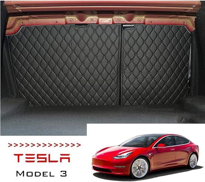 2 Stück 2 Reihe Rückenlehnenschutz Für Tesla Model 3 Schwarz Rot Black Küche Haushalt